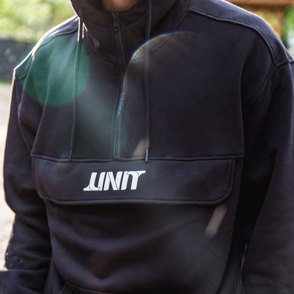 Hoodie - UNIT Half Zip Pull-over